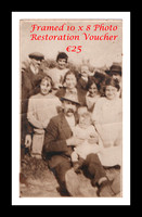 Christmas Special Framed 10 x 8  photo restoration voucher €25